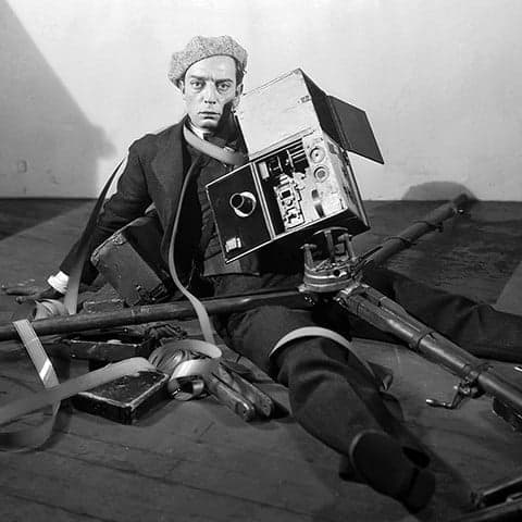 Cameraman Film Score In Reverse entertains with Flicker, enhancing musical performance with silent films.