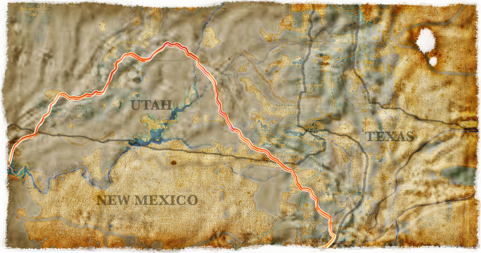 Old map, Film Score In Reverse Series entertains audiences with Spanish Trail, enhancing a live musical performance with videos and images of the west.