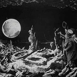 On the moon Film Score In Reverse entertains with Flicker, enhancing musical performance with silent films.