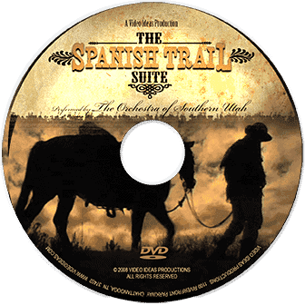 Film Score In Reverse DVD entertains audiences with Spanish Trail, enhancing a live musical performance with videos and images of the west.